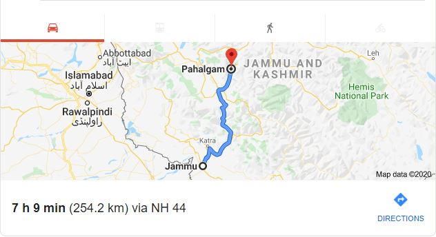 How To Reach - Amarnath Holy Cave Road Map